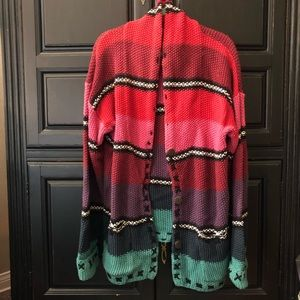Vintage Multicolored Cardigan Size L